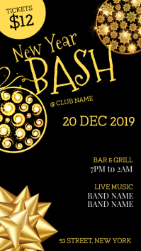 New year bash party