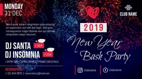 New Year Bash Party Digital Display Video Template