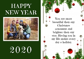 NEW YEAR CARD 2019 A4 template