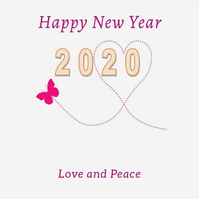 New Year Card Instagram Template