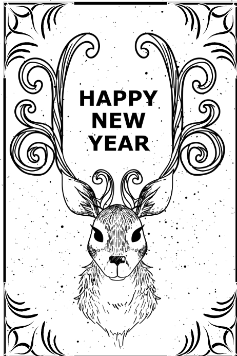 New Year Card Template