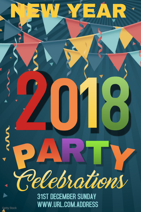 new year celebration poster templateevent poster template