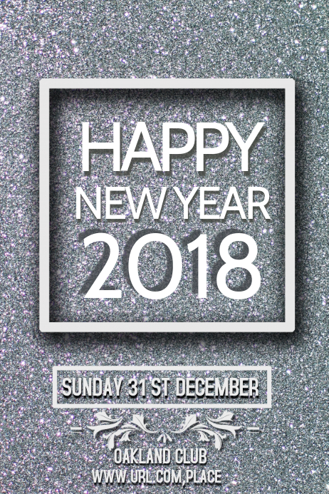 new year celebration poster template,event
