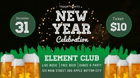 New Year Celebration Digital Display Video