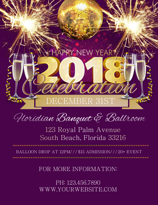 new year celebration customize template