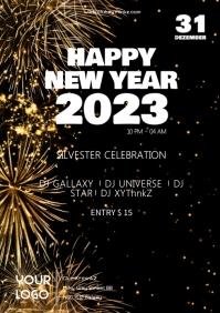 New Year Celebration party Club Bar Advert Ad