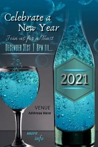 New Year Celebration Video Affiche template