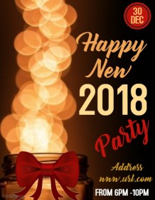 New year celebrations poster template
