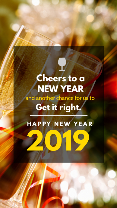 New Year Cheers Instagram Story Template