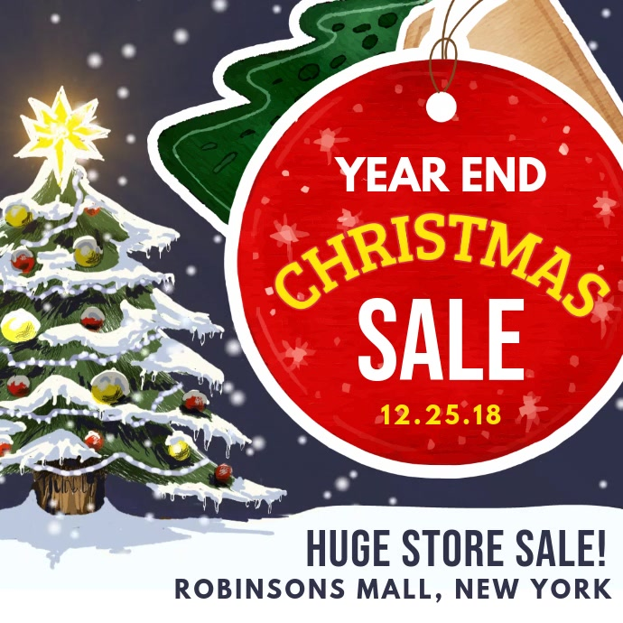 New Year Christmas Sale Video Ad
