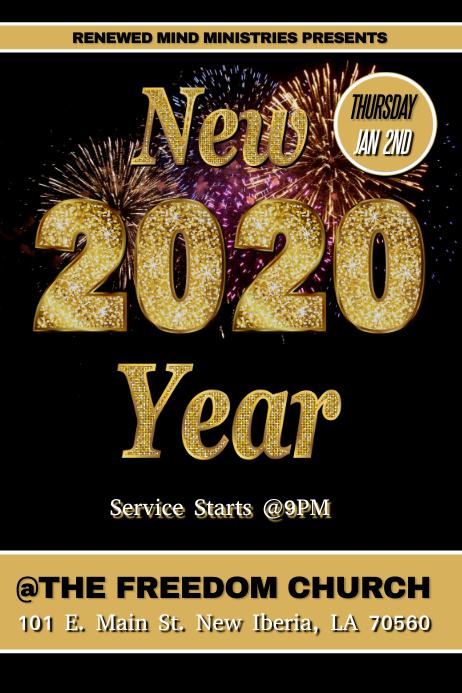 NEW YEAR 2020 CHURCH FLYER