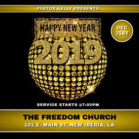 NEW YEAR CHURCH FLYER
