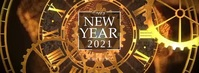 New Year Clocks Fotografia de capa do Facebook template