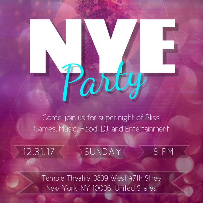 New Year Club Party Instagram Video Template