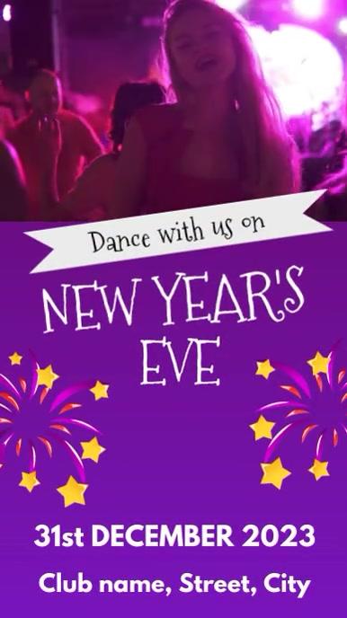 New year dance party Historia de Instagram template
