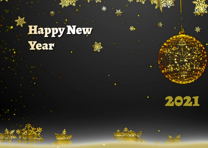 new year Briefkaart template