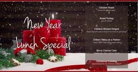 New Year Рекламное объявление Facebook template