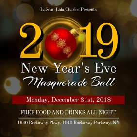 New Year Eve Ball Instagram Video Template