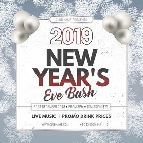 New Year Eve Bash Instagram Video Template