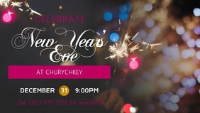New Year Eve Facebook Cover Video Template