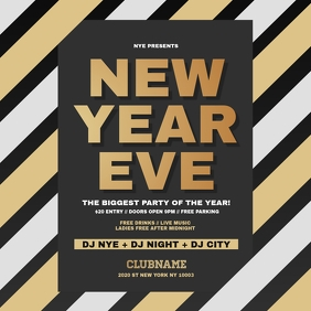New Year Eve Flyer, Happy New Year Template