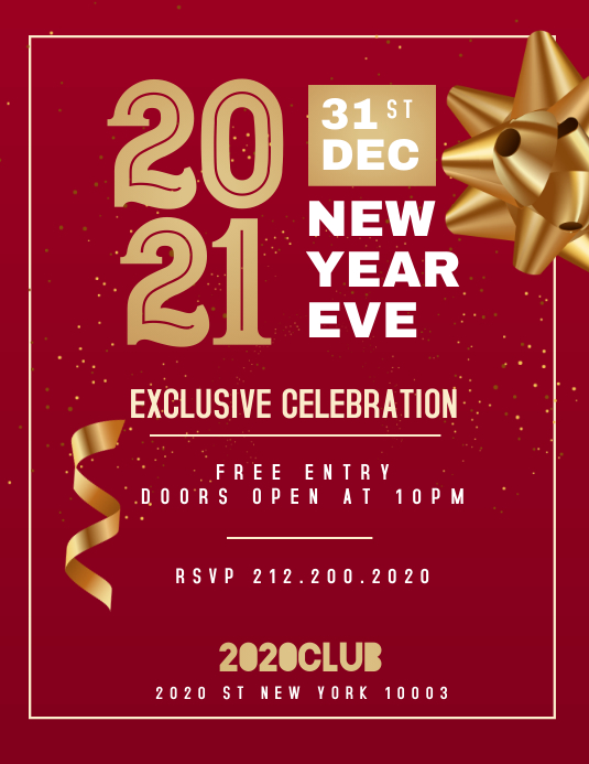 New Year Eve Flyer, Happy New Year