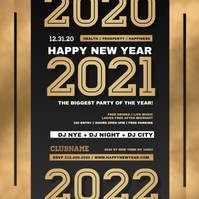 New Year Eve Instagram Flyer, Happy New Year