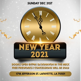 NEW YEAR EVE PARTY CHURCH FLYER TEMPLATE Album Cover