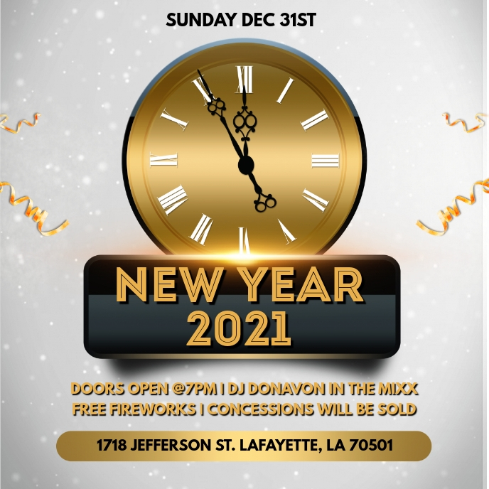 NEW YEAR EVE PARTY CHURCH FLYER TEMPLATE Albumhoes
