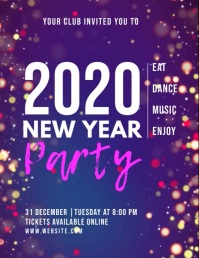 new year eve PARTY video flyer