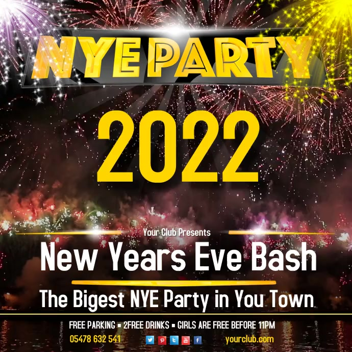 New Year Eve Party Video Template