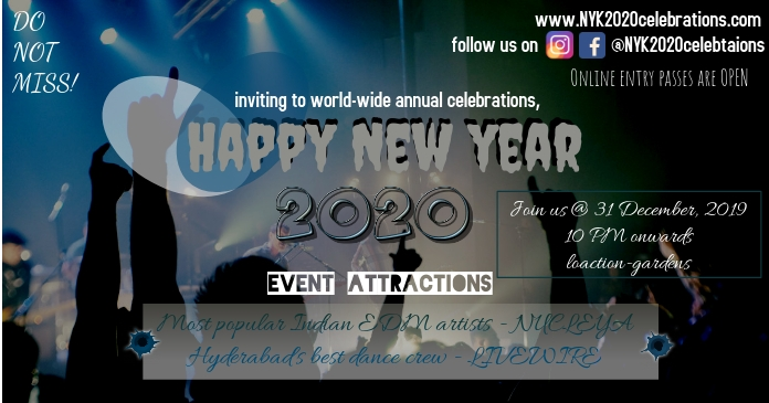 New year event/celebrations