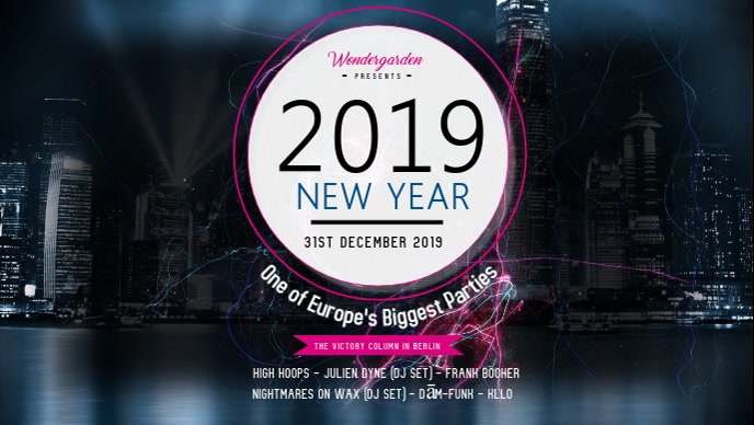 New Year Event Facebook Cover Video Template