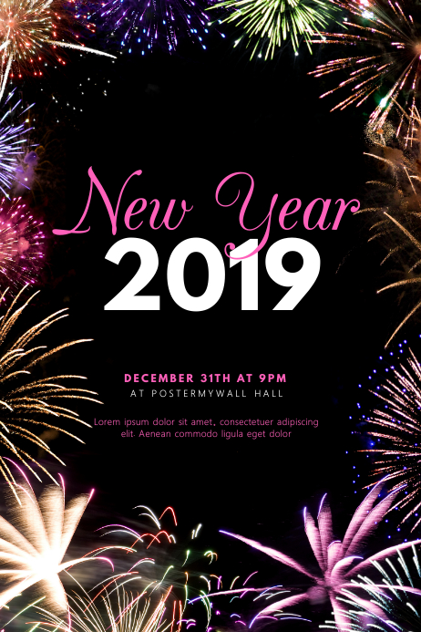New Year Event Party Flyer Template