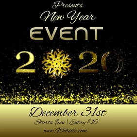 new year event TEMPLATE