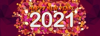 New Year Facebook Cover Template