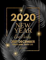 new year flyer, happy new year, new year