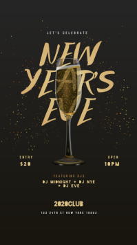 New Year Flyer, Happy New Year, New Year Eve