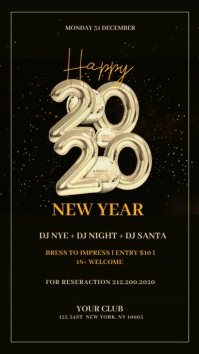 New Year Flyer, Happy New Year, NYE