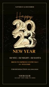 New Year Flyer, Happy New Year, NYE