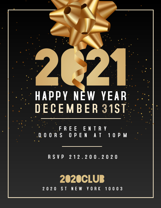 New Year Flyer, Happy New Year