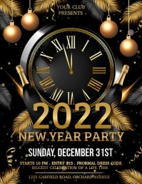 new year flyer, new year, new year video Løbeseddel (US Letter) template