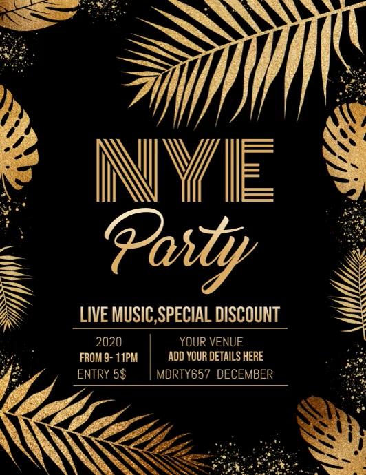New year flyer,event template,party template