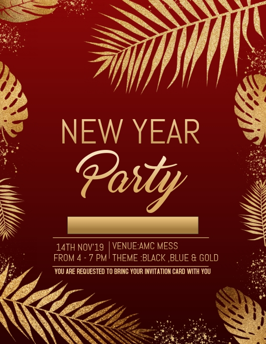 New Year Flyer Event Template Party Template Postermywall