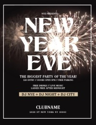 new year flyer,happy new year, new year video