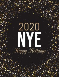 new year flyer,happy new year, new year video template