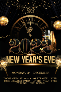 New Year Flyer Banner 4' × 6' template