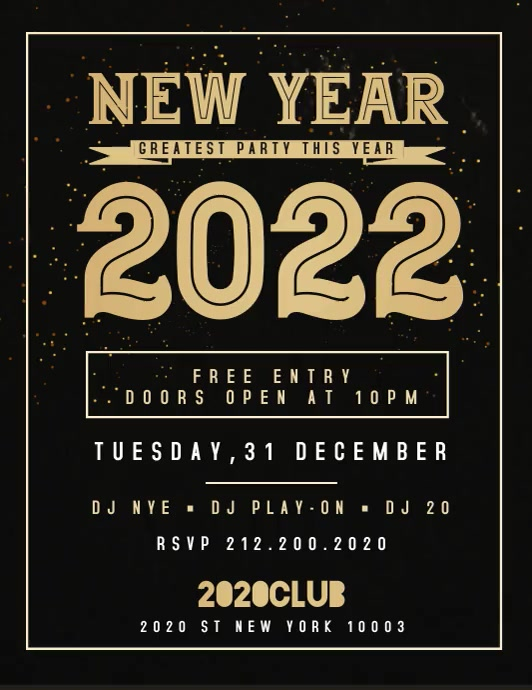 new year flyer template video