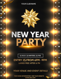 new year flyers,event flyers Løbeseddel (US Letter) template