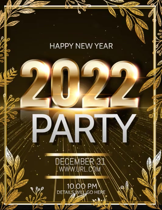 New year flyers,event flyers Volante (Carta US) template
